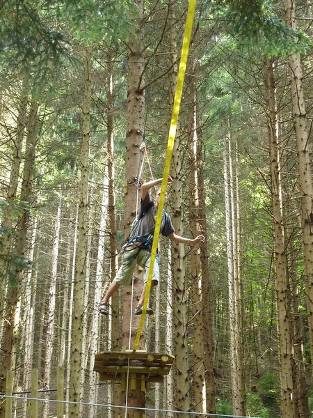 Tree-top adventure trail and archery game